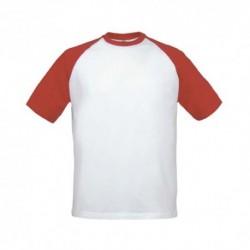 T-shirt B&C Base-Ball 180g - 100% Algodão