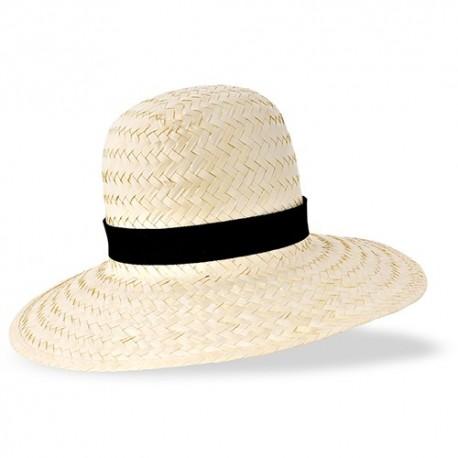 Chapéu para mulher de palha clara