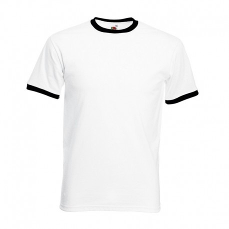 T-shirt Valueweight Ringer T 165g - 100% Algodão