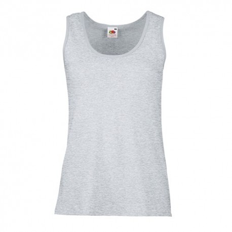 T-shirt Valueweight Vest Lady-fit 165g - 100% Algodão