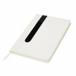 Bloco de notas, capa em PU com porta-esferográfica
