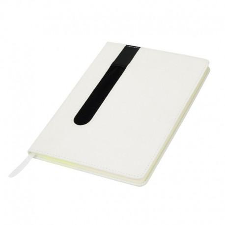 Bloco de notas A5, capa em PU com porta-esferogtáficas