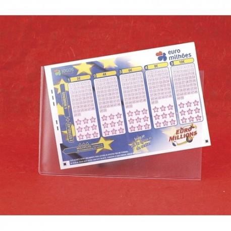 Bolsa A6 para boletins de jogos em PVC