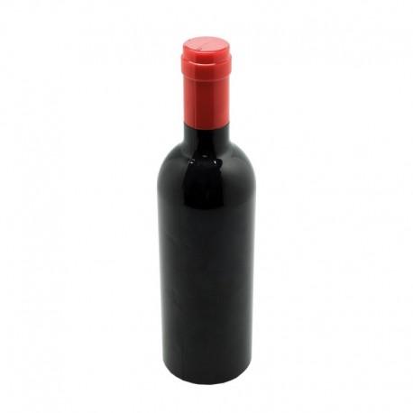 Set de vinho em forma de garrafa com saca-rolhas, decantador e salva gotas