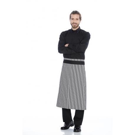 Avental de cintura em sarja estampada poliéster-algodão