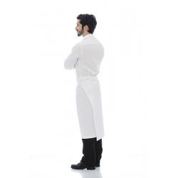Avental de cintura em sarja poliéster-algodão trespasse traseiro