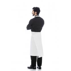 Avental de peito em sarja poliéster-algodão trespasse traseiro