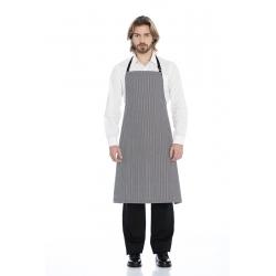 Avental de peito em sarja estampada poliéster-algodão