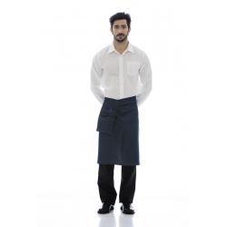 Avental de cintura em ganga 100% algodão com bolso de apoio