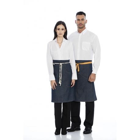 Avental de cintura em ganga 100% algodão