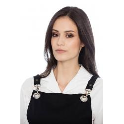 Avental de peito em sarja poliéster-algodão c/ mosquetão metálico e ilhós