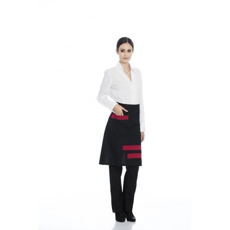 Avental de cintura em sarja poliéster-algodão