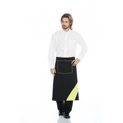 Avental de cintura em sarja poliéster-algodão com bolso de apoio