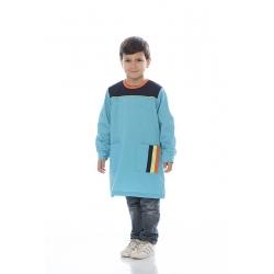 Bata rapaz em em canvas poliéster-algodão