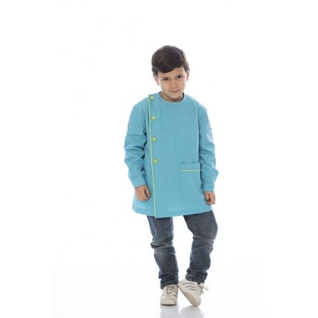 Bata rapaz em em canvas poliéster-algodão com folhos