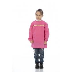 Bata menina em canvas poliéster-algodão com folhos
