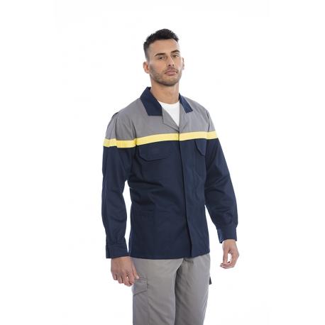 Blusão homem em sarja poliéster-algodão