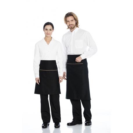 Camisa homem em cambraia poliéster-algodão de manga comprida