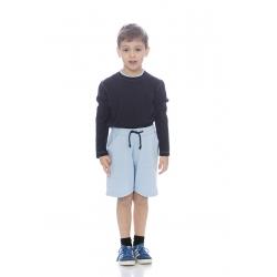 Calção de criança em felpa italiana sem carda poliéster-algodão