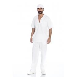 Calça homem em sarja poliéster-algodão