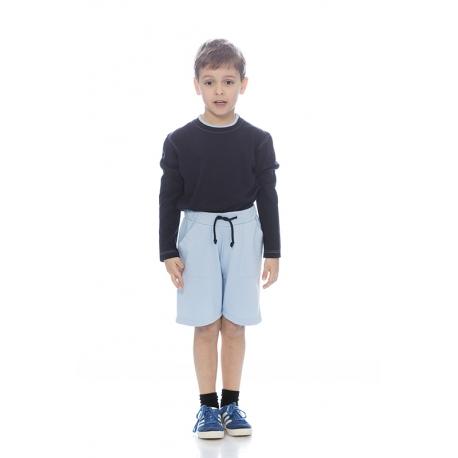 T-shirt rapaz em malha jersey poliéster-algodão algodão manga comprida
