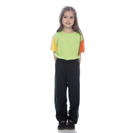T-shirt criança em malha jersey poliéster-algodão