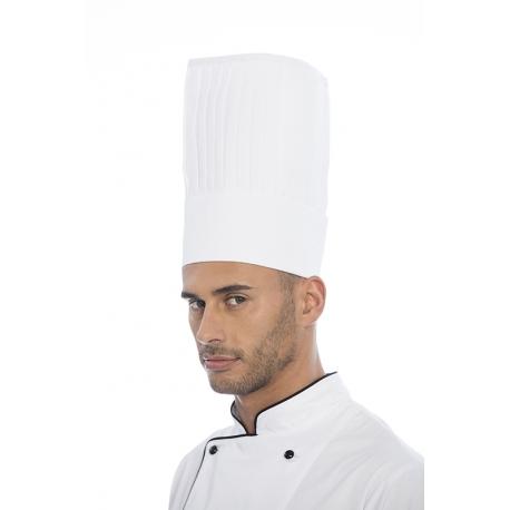 Gorro cozinheiro com goma em sarja poliéster-algodão