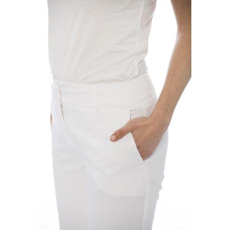 Calça senhora em sarja poliéster-algodão