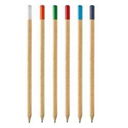 Lápis de carvão com ponta colorida