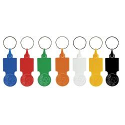 Porta-chaves de plástico com ficha € 0,50 para carrinho