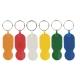 Porta-chaves de plástico com ficha