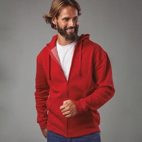 AMSTERDAM. Sweatshirt para homem, com fecho e capuz.