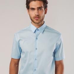 MADRID. Camisa popelina para homem.