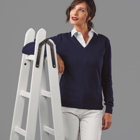 "MILAN WOMEN. Pullover decote em ""V"" para senhora."