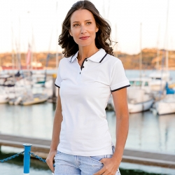 "ROME WOMEN. Polo ""slim fit"" para senhora."