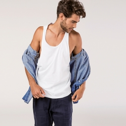 IBIZA.T-shirt de manga cava para homem.