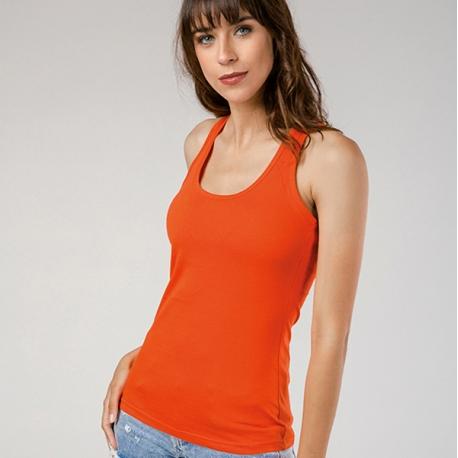 TIRANA. T-shirt sem mangas para senhora.