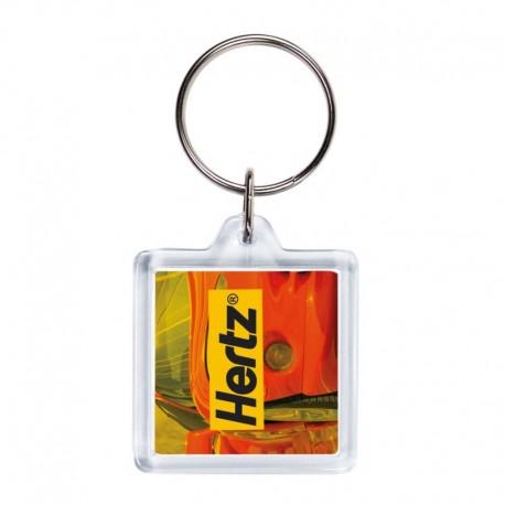 Porta-chaves acrílicoo quadrado 2 faces