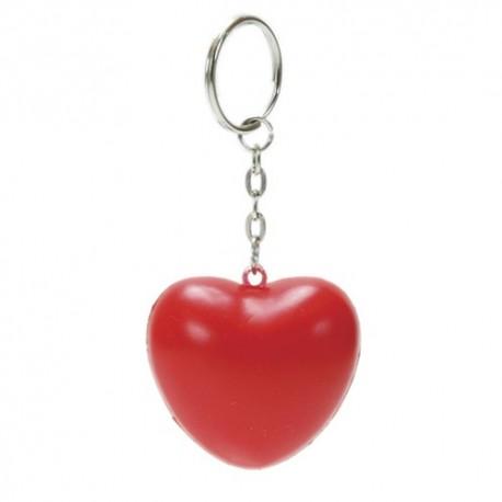 Porta-chaves coração anti-stress em PU