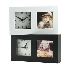 Relógio de mesa com moldura