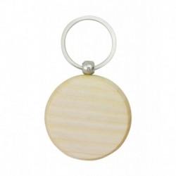 Porta-chaves redondo em madeira