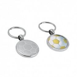 Porta-chaves de metal bola de futebol 1 face