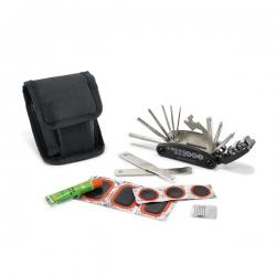 Kit de ferramentas para bicicleta.