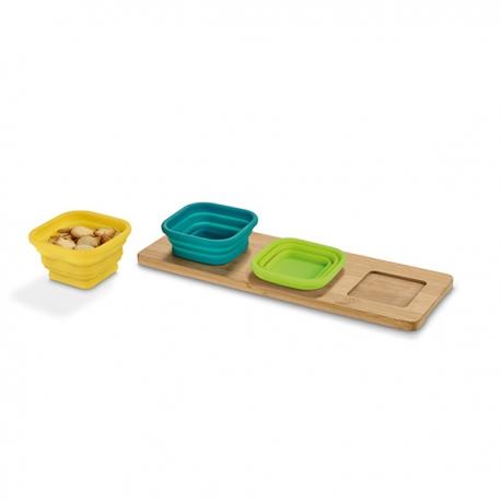 Base de mesa com 3 taças.