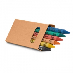 EAGLE.Caixa com 6 lápis de cera.