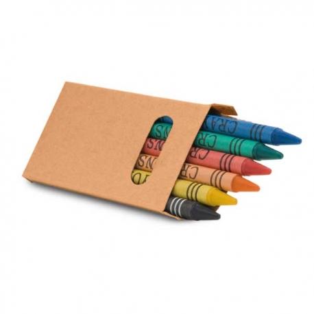 Caixa com 6 lápis de cera.