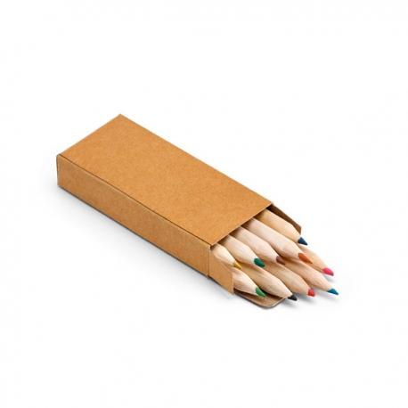 Caixa com 10 lápis de cor.