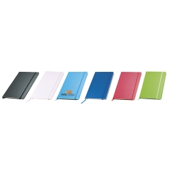 Bloco de notas, capa em cartão e bolsa