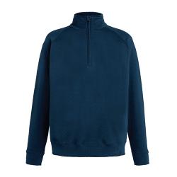 Sweatshirt Lightweight Zip Neck 240g - 80% Algodão / 20% Poliéster