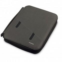 """Portfólio em PU para tablet 7a 10"""" com bloco e powerbank 5000 mAh"""""""